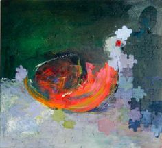 Artists: Amy Hall - Orange Egg | 2012 | oil on canvas - New Artists on www.Artistwebsitepro.com - Websites for $4.95/month
