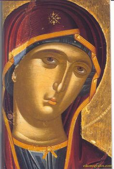 "Nektaria Karantzi in Byzantine Hymns ""The Angel cried unto Her"" (in greek: Ο Αγγελος εβόα) [Ode 9 of the the Canon Of Pascha, tone] by Nektaria Karantzi. Religious Icons, Religious Art, Russian Icons, Jesus Christus, Byzantine Icons, Blessed Virgin Mary, Art Icon, Orthodox Icons, Sacred Art"