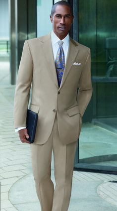 British Tan is a great color for spring/summer business attire.