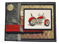 Masculine Card - Motorcycle Stamp