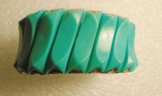 Vintage Turquoise Metal Expandable Stretch Panel Bracelet Gold tone #Unbranded #TurquoiseBraceletMetalStretchExpandablePanel