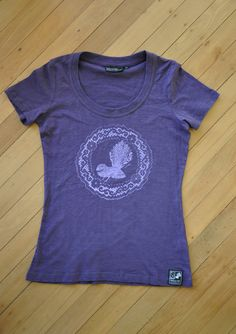 Ladies Purple Fantail Tee by SonjaHandcraftedTees on Etsy