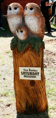 Tim Barker is not only one of the best eagle carvers I have ever seen, he is also an amazing owl carver!