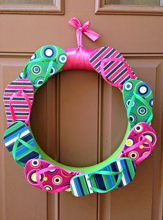 Tutorial Tuesday - Summer Flip Flop Wreath - Mommy Like Whoa