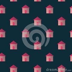 Image of homes with seamles repeat pattern design for your print project, background, wallpaper, fabric, paper, scrapbook, cover design  etc. Enjoy and fun.