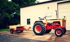 CASE 730 Wheatland W/CASE Square Baler Vintage Tractors, Old Tractors, Vintage Farm, Case Tractors, Baler, Farm Tools, Case Ih, Good Old, Farming