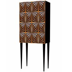 OpArt Drinks Cabinet - Copper | From a unique collection of antique and modern cabinets at https://www.1stdibs.com/furniture/storage-case-pieces/cabinets/