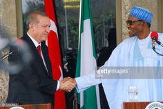 Nigerian President Mohammadu Buhari ® shakes hands... #ankaran: Nigerian President Mohammadu Buhari ® shakes hands withTurkish… #ankaran