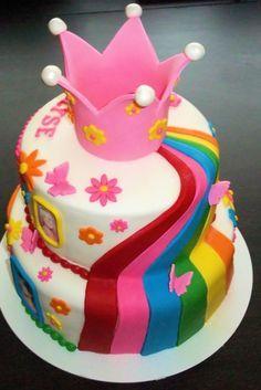 kindertaarten K3 4 jaar meisjes - Google zoeken Cupcakes, Cake Cookies, Cupcake Cakes, Prince Cake, Girly Cakes, Piece Of Cakes, Beautiful Cakes, Yummy Cakes, Fondant