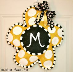 Burlap Door Decorations | Burlap Door Hanger Decoration Spring Flower Personalized & Hand ...