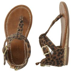 OshKosh Sandals #leopard