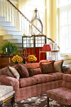 [Blog] Red Aubusson Rugs Bring the Look of Power to 5 Interiors. Carolyne Roehm