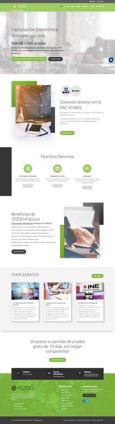 Desarrollo de Pagina Web de Facturación Electrónica - www.yezdo.com / HostingPage.Com Design Portfolio Layout, Design Web