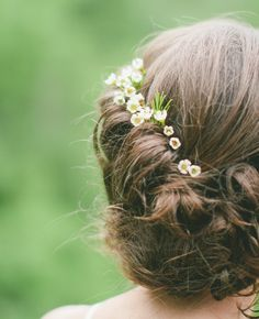 Updo with Baby's breath | Carly Short Photography | Blog.theknot.com