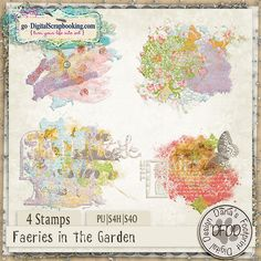 Faeries in the Garden Stamps