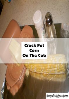 Crock pot corn on the cob--it can't be easier than this. Crock Pot Corn, The Husk, Ears Of Corn, Cob, Free Stuff, Crockpot Recipes, Slow Cooker, Stuffed Peppers, Healthy Slow Cooker