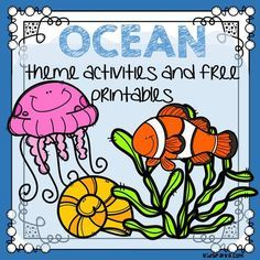 of FREE printables and theme activities for your Ocean Animals lesson plans and preschool and pre-K program. Ocean Lesson Plans, Preschool Lesson Plans, Kindergarten Activities, Preschool Ocean Activities, Vocabulary Activities, Kindergarten Teachers, Preschool Ideas, Preschool Crafts, Beach Activities