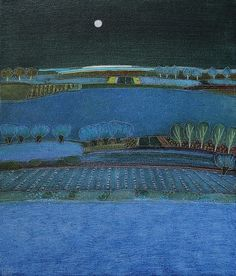 Rob van Hoek (Dutch b. 1957) - This Evening Blue