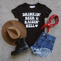 """Our item of the week! FOLLOW us, REPIN this photo, + comment below and one winner will be selected to WIN the """"DRINKIN' BEER TEE""""! Winner will be contacted Monday 8/1 on Pinterest. #gypsywarrior"""