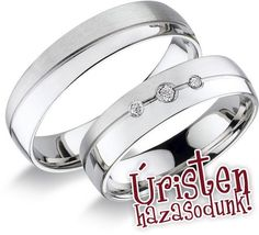 RA 522 F Karikagyűrű - Ft/pár; Wedding Rings, Engagement Rings, Jewelry, Rings For Engagement, Jewlery, Jewels, Commitment Rings, Anillo De Compromiso, Jewerly