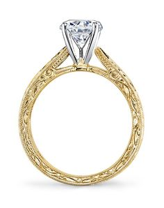 7df3fc4eea8b MARS Fine Jewelry Vintage Round Cut Engagement Ring Anillo De Compromiso Oro  Rosado