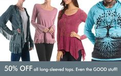 50% OFF even the REALLY good stuff! Now till Monday. All long-sleeved clothing items: cardigans bohemian lace tops guys and universal hoodies... yup... all of it. Get in early for first dibs.  Everyday is a parade... what are you wearing? http://ift.tt/2jO8ngp  #liveinjoy #oracleemporium #NorthVancouver #Sechelt #Whistler #fairtrade #bethechange #bcshoplocal #shoplocal #spiritual #gifts #meditate #meditation #mala #bohemian #boho #goodvibe #spiritualart #spiritualjewelry #wanderlust #sale