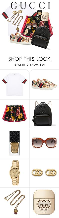"""""""Presenting the Gucci Garden Exclusive Collection: Contest Entry"""" by tiffany-olivares ❤ liked on Polyvore featuring Gucci and gucci"""