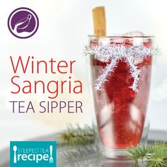 Icy or hot: What's your style? However you sip it, this fruity tea tickles the taste buds like no other Winter Sangria, Fun Drinks, Beverages, Ginger Ale, Loose Leaf Tea, Tea Recipes, Taste Buds, Drinking Tea, Tea Time
