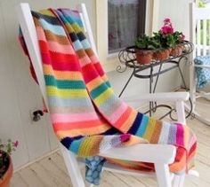 Beach Stripe Surf Blanket | AllFreeCrochetAfghanPatterns.com