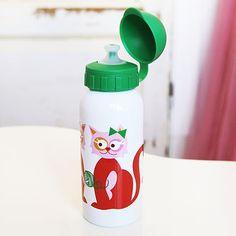 Fin trickflaska i rostfritt stål och BPA-fri plast. Jag hittade den på www.crazydaisy.se
