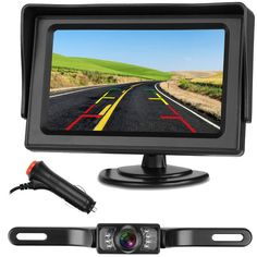 Backup Camera and Monitor Kit For Car//Suv//RV//Truck Single Power Rear View System