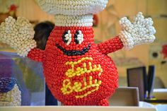 This mascot sculpture made from Jelly Belly Jelly Beans is one the first items people see on the tour.