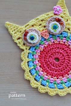 New Pattern – Crochet Owl Coasters (Appliques)