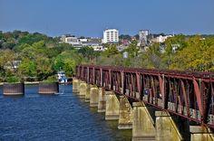 Old Railroad Bridge, Tennessee River, Looking toward Florence, AL