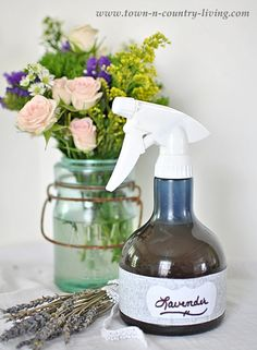 How to Make Lavender Linen Spray - Town & Country Living