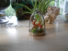 Oh Deer--Mini Woodland Scene Diorama Tiny Dome Necklace