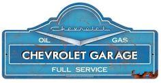 Blechschild Chevrolet Garage-D0450