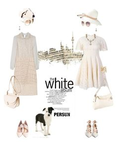 city walks by pensivepeacock on Polyvore featuring polyvore fashion style STELLA McCARTNEY Lanvin Gianvito Rossi MSGM Chanel Stephen Dweck Ben-Amun Burberry Christian Dior Tom Ford Americanflat clothing