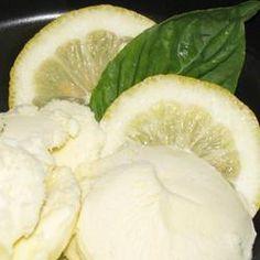 frozen lemon custard - the recipe is titled ice cream, but its a custard recipe. Lemon Ice Cream, Yummy Ice Cream, Make Ice Cream, Ice Cream Maker, Homemade Ice Cream, Nice Cream, Lemon Custard, Frozen Custard, Frozen Yogurt