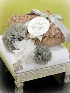 White & Silver gift tray