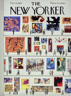 Painting - New Yorker October 1957 by Anatole Kovarsky , The New Yorker, New Yorker Covers, Photo Wall Collage, Collage Art, Capas New Yorker, Graffiti Wall Art, Poster Prints, Art Prints, Magazine Art
