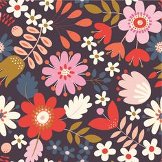 Dashwood Studio - Corduroy - Brown Flowers - Cord Print - by the FQ Textiles, Textile Patterns, Canadian Quilts, Brown Flowers, Dressmaking Fabric, General Crafts, Cotton Quilts, Fabric Online, Repeating Patterns