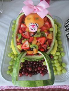 Fruit Platter For Baby Shower | Baby Cradle Fruit Platter That A Dear  Friend Made For