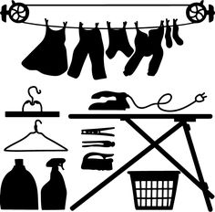 Laundry Icons - SVG - Go to www.svgcoop.com to download this SVG for free