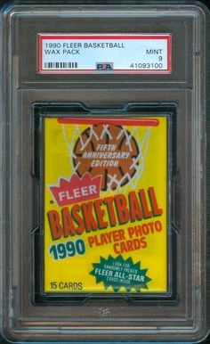 25cc13f79c2 1990-91 Fleer BASKETBALL CARD Original Unopened Wax Pack PSA 9 Basketball  Cards
