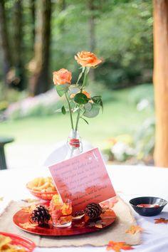{Red & Orange} Whimsical Fall Woodland Wedding Photographer: Kel Ward Photography