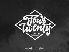 FourTwenty Cloth lettering logo by Typemate