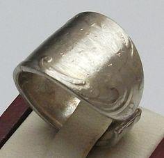 Antiker Silberring aus Besteck  Gr 16,4 mm, SR225 von Atelier Regina auf DaWanda.com