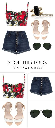 """Quick set"" by madisonk12 ❤ liked on Polyvore featuring Dolce&Gabbana, Zara, Ray-Ban and Chloe + Isabel"