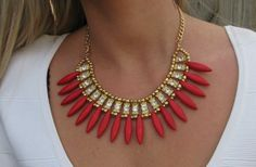 GroopDealz   Stone Tassel Necklace-3 Colors!